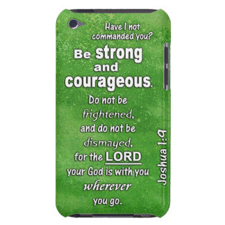 Joshua 1:9 Be Strong and Courageous Bible Verse Barely There iPod Cover