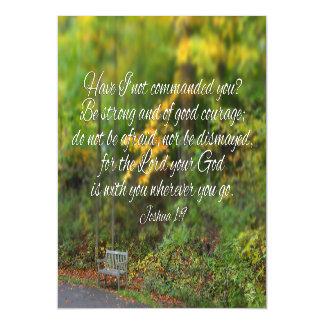 Joshua 1:9 Bible Verse Christian Scripture Magnetic Invitations