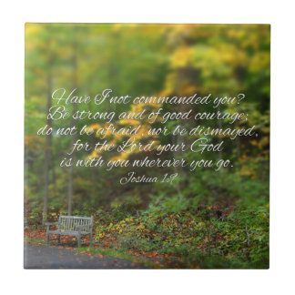 Joshua 1:9 Bible Verse Christian Scripture Tile