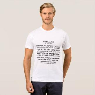 Joshua 1:9 in Amharic T-shirt