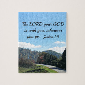 Joshua 1:9 The Lord your God is with you Jigsaw Puzzle