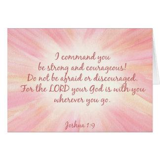 Joshua 1:9 Watercolor Starburst Card