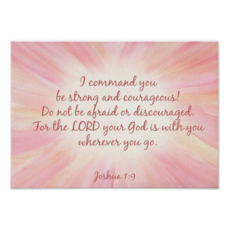 Joshua 1:9 Watercolor starburst print