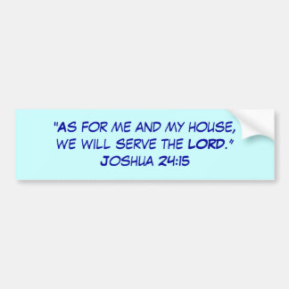Joshua 21:15 bumper sticker