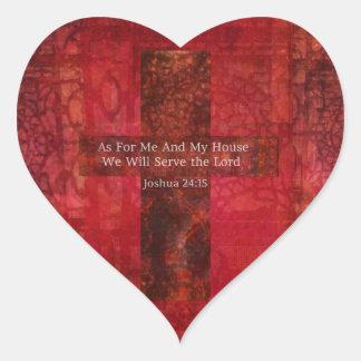 Joshua 24:15 Hip Modern Christian art Stickers