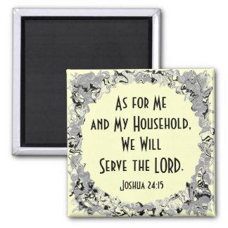 Joshua 24:15 magnet