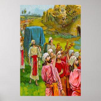 Joshua 6 The Wall of Jericho Falls Flat poster