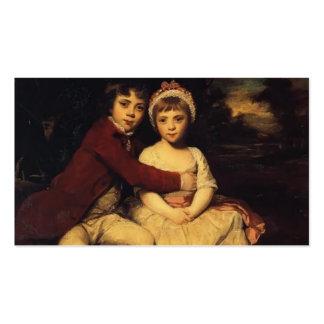Joshua Reynolds-John Parker and his Sister Theresa Business Card Templates