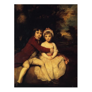 Joshua Reynolds-John Parker and his Sister Theresa Postcard