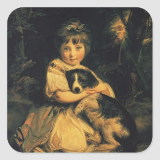 Joshua Reynolds- Miss Bowles Square Sticker