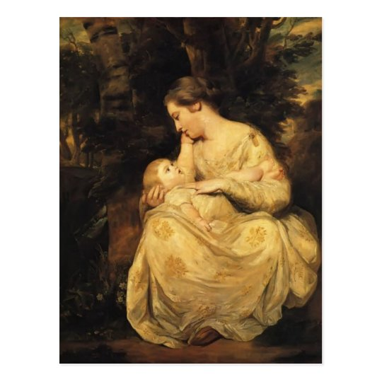 Joshua Reynolds- Mrs. Susanna Hoare and Child Postcard
