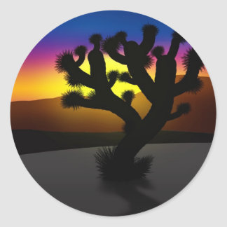Joshua Tree Classic Round Sticker