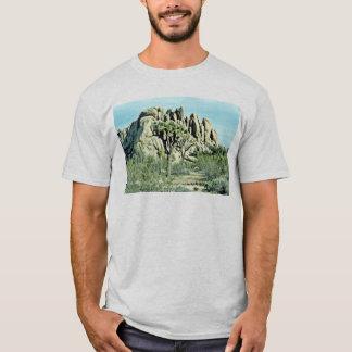 Joshua Tree, Fluted Rock Behind T-Shirt