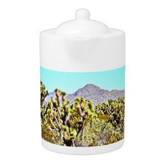 Joshua Tree in Mountains Tea Pot