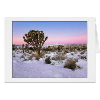 """Joshua Tree In Snow"" Card"