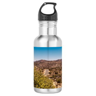 Joshua tree lonely desert road 532 ml water bottle