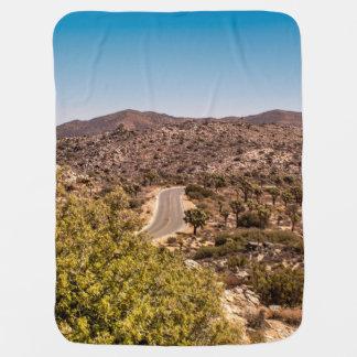 Joshua tree lonely desert road baby blanket