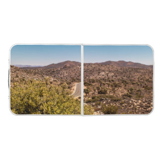 Joshua tree lonely desert road beer pong table
