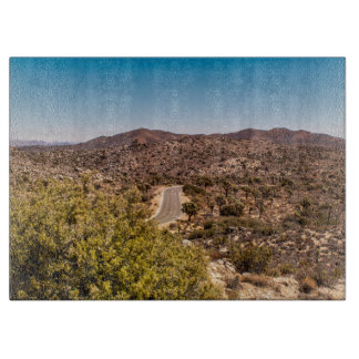 Joshua tree lonely desert road boards