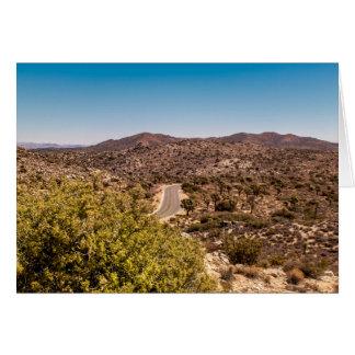 Joshua tree lonely desert road card