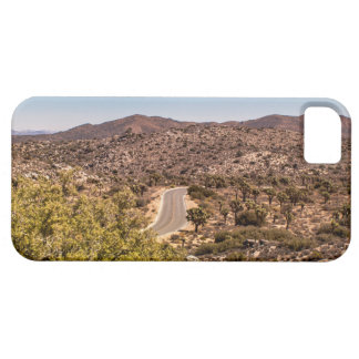 Joshua tree lonely desert road iPhone 5 case