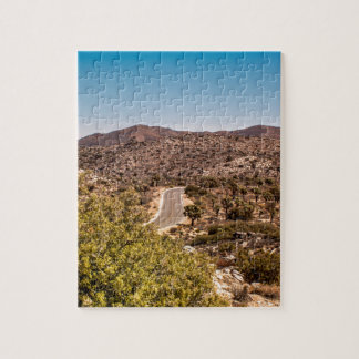 Joshua tree lonely desert road jigsaw puzzle