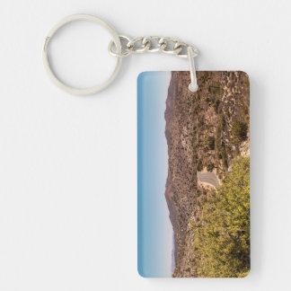 Joshua tree lonely desert road keychain