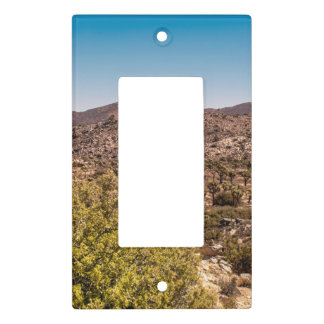 Joshua tree lonely desert road light switch cover