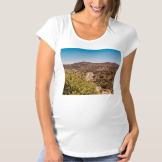 Joshua tree lonely desert road maternity T-Shirt