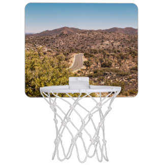 Joshua tree lonely desert road mini basketball hoop