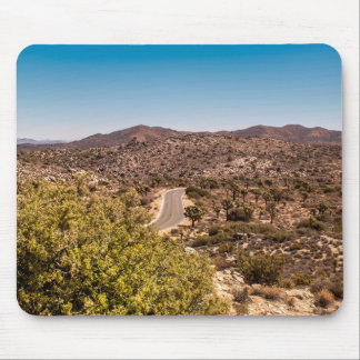 Joshua tree lonely desert road mouse pad