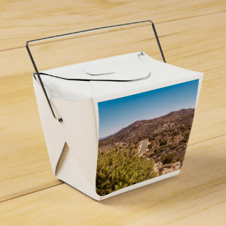 Joshua tree lonely desert road party favor boxes