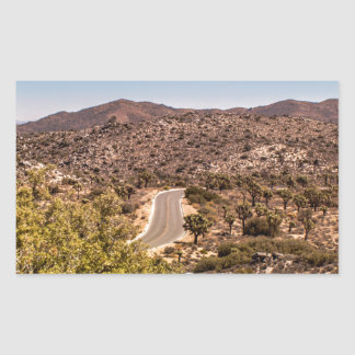 Joshua tree lonely desert road sticker