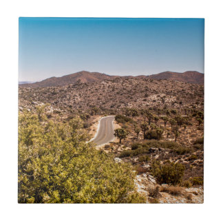 Joshua tree lonely desert road tile