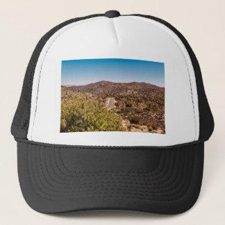 Joshua tree lonely desert road trucker hat