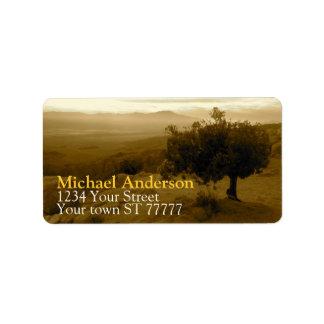 Joshua Tree National Park Address label