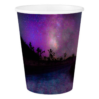 Joshua tree National Park milky way Paper Cup