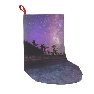 Joshua tree National Park milky way Small Christmas Stocking
