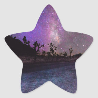 Joshua tree National Park milky way Star Sticker