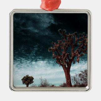 Joshua Tree Special Silver-Colored Square Ornament