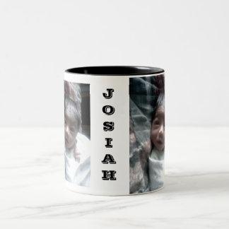 JOSIAH EYES WIDE OPEN, JOSIAH EYES WIDE OPEN, J... Two-Tone COFFEE MUG
