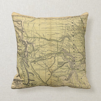 Josiah Gregg's 1844 Map of the Indian Territory Throw Pillow