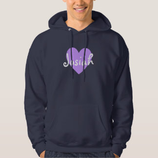 Josiah in Purple Hoodie