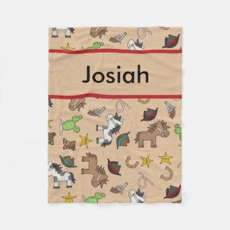 Josiah's Personalized Cowboy Blanket