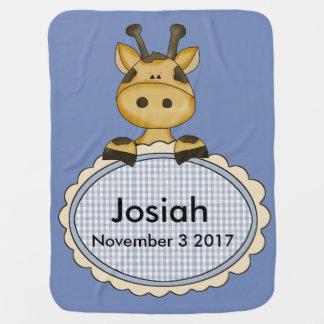 Josiah's Personalized Giraffe Baby Blanket