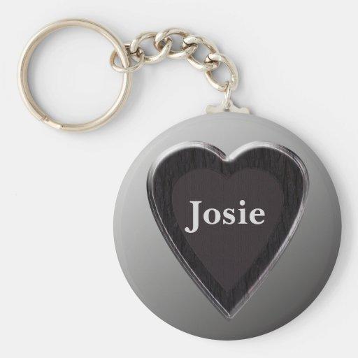 Josie Heart Keychain