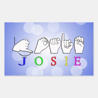 JOSIE  NAME SIGN ASL FINGERSPELLED STICKER
