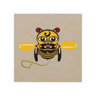 Jouet Kiwiana d'abeille de Hei Tiki Canevas En Bois