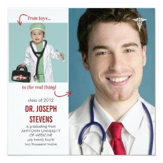 Jouets à vrai docteur Medical Graduation Carton D'invitation 13,33 Cm