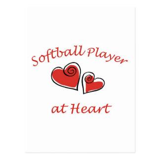 Joueur de base-ball au coeur carte postale